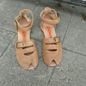 Jim Barnier Anthropologie Peep Toe Sandals